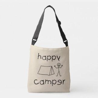 Happy Camper (blk) Crossbody Bag