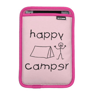 Happy Camper (blk) iPad Mini Sleeve
