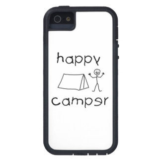 Happy Camper (blk) iPhone 5 Cover