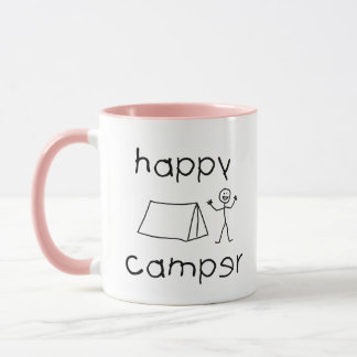 Happy Camper (blk) Mug