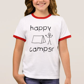 Happy Camper (blk) Ringer T-Shirt