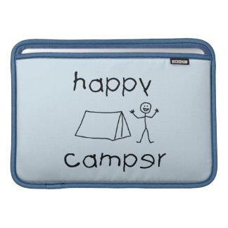Happy Camper (blk) Sleeve For MacBook Air