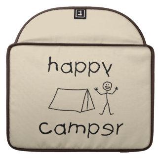 Happy Camper (blk) Sleeve For MacBook Pro
