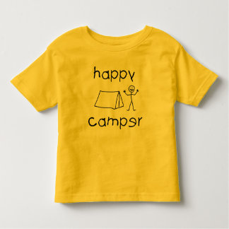 Happy Camper (blk) Toddler T-shirt