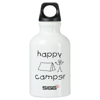 Happy Camper (blk) Water Bottle