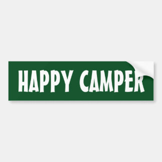HAPPY CAMPER bumper sticker for car RV or trailer