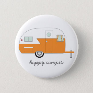 Happy Camper Button orange