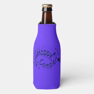 Happy Camper Camping RV Blue Bottle Cooler