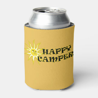 Happy Camper Camping Sunshine Can Cooler