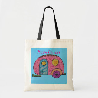 Happy Camper canvas tote