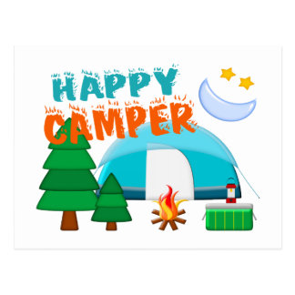 Happy Camper Cookout Postcard