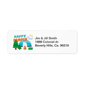 Happy Camper Cookout Return Address Label