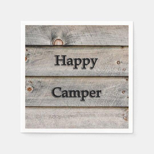 Happy Camper Disposable Napkin
