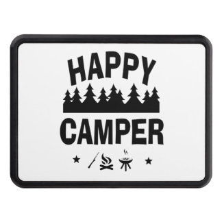 Happy Camper Fun Camping Quote Trailer Hitch Cover