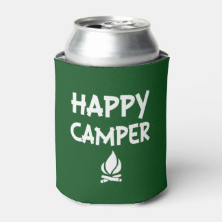 Happy Camper funny can cooler