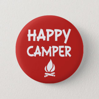 Happy camper funny saying button