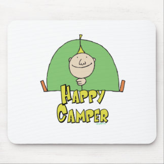 Happy Camper Guy Mouse Pads