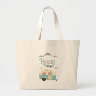 HAPPY CAMPER LARGE TOTE BAG
