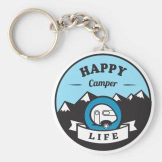 Happy Camper Life Key Chain
