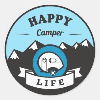 Happy Camper Life Sticker