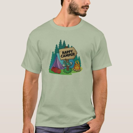 Happy Camper Men's Basic T-Shirt