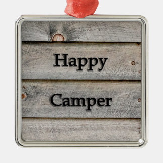 Happy Camper Metal Ornament