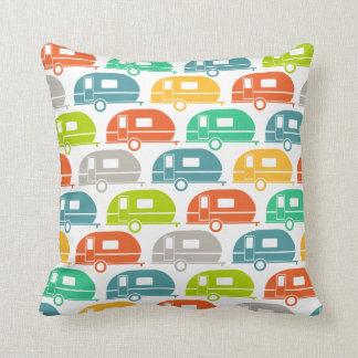 Happy Camper | Modern Camper Decor Brights 2 Throw Pillow