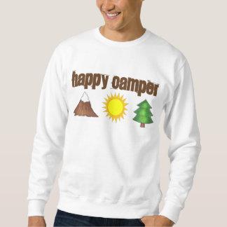 Happy Camper Mountain Tree Sun Camping Sweatshirt