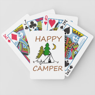 Happy Camper Outdoors Bicycle Playing Cards