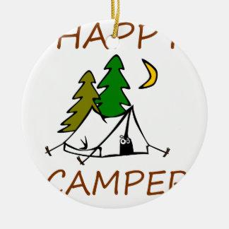 Happy Camper Outdoors Ceramic Ornament