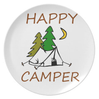 Happy Camper Outdoors Plate
