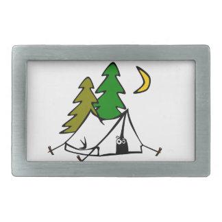 Happy Camper Outdoors Rectangular Belt Buckle