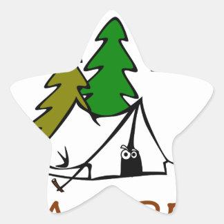 Happy Camper Outdoors Star Sticker