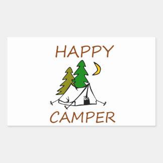 Happy Camper Outdoors Sticker