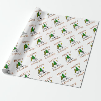 Happy Camper Outdoors Wrapping Paper