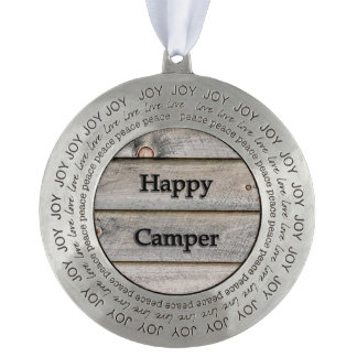 Happy Camper Pewter Ornament