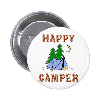 HAPPY CAMPER PINBACK BUTTON