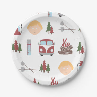 Happy Camper Plates 7 Inch Paper Plate