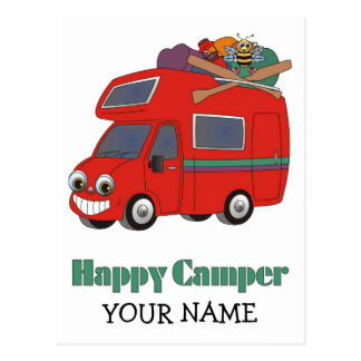 Happy Camper Postcard
