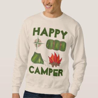 Happy Camper Roll Tent Fire Compass Sweatshirt
