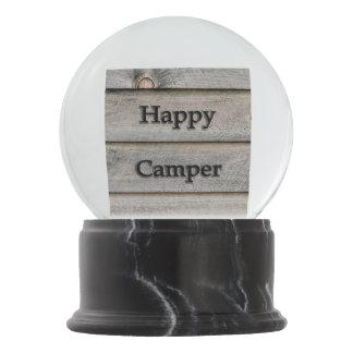 Happy Camper Snow Globe