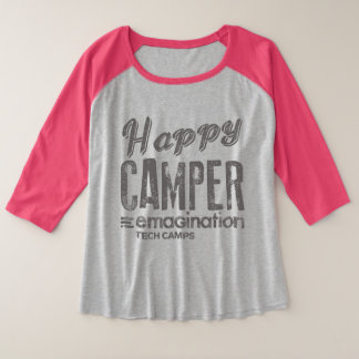 Happy Camper T Plus Size Raglan T-Shirt