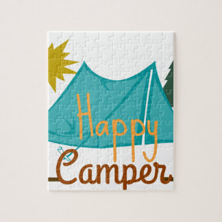 Happy Camper Tent Outdoors Jigsaw Puzzle