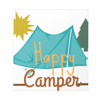 Happy Camper Tent Outdoors Notepad