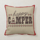 """""""Happy Camper"""" Throw Pillow"""