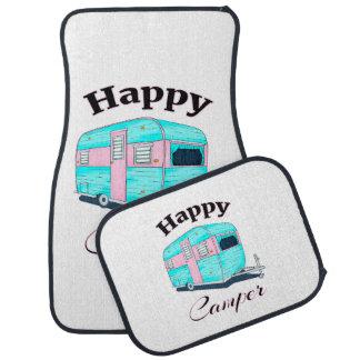 Happy Camper Trailer Camping Car Mat