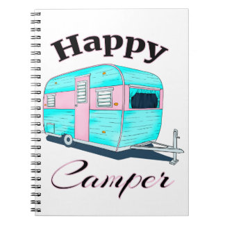 Happy Camper Trailer Camping Notebooks