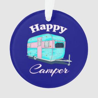 Happy Camper Trailer Camping Ornament