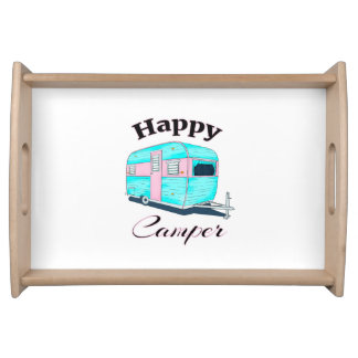 Happy Camper Trailer Camping Serving Tray