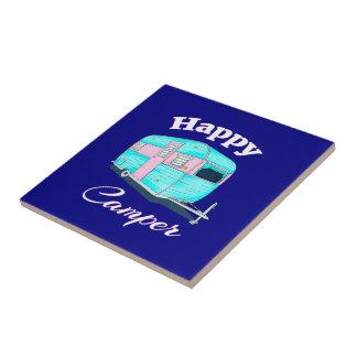 Happy Camper Trailer Camping Tile
